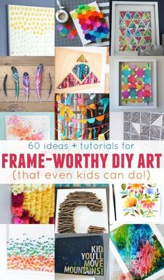 Dress up any wall in your home with these easy wall art projects -- easy enough for both kids AND adults to do! Creative Ideas Quirky Ideas