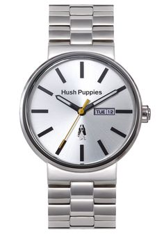Hush Puppies Orbz Men's Automatic Watch with Silver Dial Analogue Display and Silver Stainless Steel Bracelet HP.3792M.1522: Amazon.co.uk: W...
