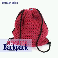Free Crochet Pattern - Drawstring Bag ✿⊱╮Teresa Restegui http://www.pinterest.com/teretegui/✿⊱╮