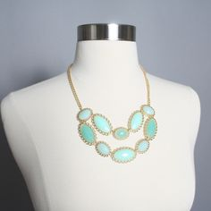 Don't Think Twice Necklace: Mint
