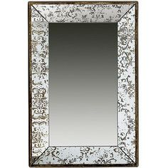 A&B Home 31501 Antique-Look Frameless Rectangle Wall Mirror/Tray