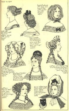 The Mode in Hats and Headdress: A Historical Survey 17th Century Clothing, 17th Century Fashion, Historical Costume, Historical Clothing, Historical Hairstyles, Blog Couture, Retro Mode, Hat Hairstyles, French Hairstyles
