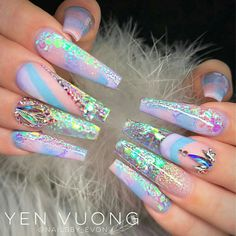 Nail artist💅🏼/ salon owner/Nail educator/Nail supply distributor/ mom of two👧🏻👦🏻. Fabulous Nails, Perfect Nails, Gorgeous Nails, Pretty Nails, Glam Nails, Dope Nails, Fun Nails, Ongles Bling Bling, Bling Nails