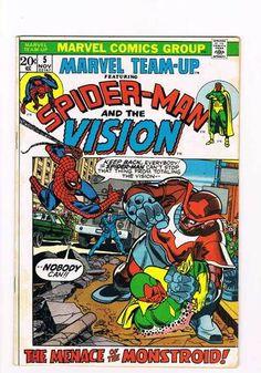 Marvel Teamup 5 Spider Man The Vision Grade 6 0 Super Scarce Hot Book   eBay