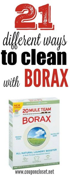 Easy Frugal Tips for Cleaning with Borax that can actually save you money