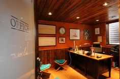 Masculine office space #MontanaStyle