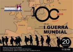 Reniec organiza un conversatorio sobre los 100 años de la Guerra Mundial con Max Hernández, Guillermo Nugent y José Ragas. Jirón Bolivia 109 Piso 33.  Miércoles 20 de agosto, 11.30 am.