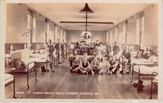 WOOLWICH - Royal Herbert Military Hospital, Ward C - Real Photo - WW1 Soldiers | eBay