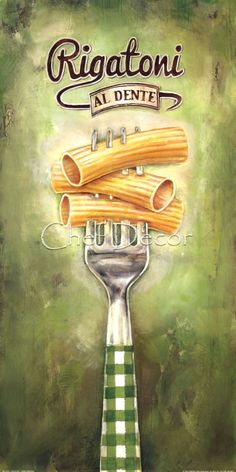 Rigatoni Fine-Art Print by Elisa Raimodi at ChefDecor.com.