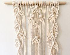 Macrame Wall Hanging Vines 100% Cotton Tapestry BOHO Chic Natural Botanical