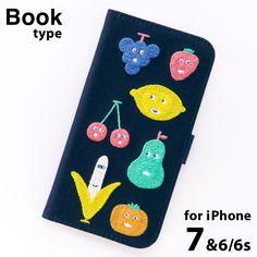 【直営店限定】AIUEO iPhone7 (6/6s)対応 手帳型スマホケース FRUITS MIX フルーツミックス
