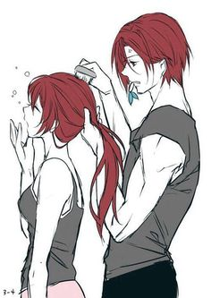 Rin and Gou in Free!