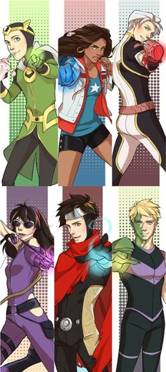 dorodraws: Young Avengers bookmarks for AE.