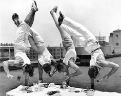 Athletic Muscular Men Balancing Eating Balanced Meal Vintage 1930 Los Angeles Athletic Club Black & White Photograph Photography Photo Print by EclecticForest on Etsy https://www.etsy.com/listing/203540686/athletic-muscular-men-balancing-eating