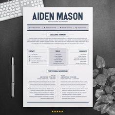 Simple Professional Job Resume Template CV Resume 2 Pages Job Resume Template, Modern Resume Template, Resume Format, Resume Template Free, Creative Resume Templates, Free Resume, Cv Simple, Simple Resume, Cv Design