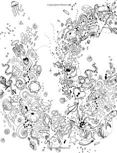 Inky Ocean Creative Colouring With Quests Inky Colouring