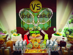 Mesa de dulces - Sweet table - Candy Bar Tenis