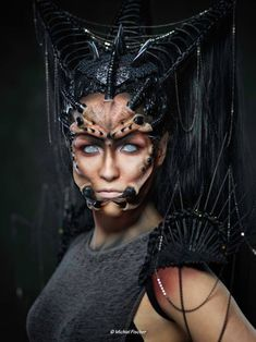 SPIDER sfx  photo: michiel fischer  Model: Zoe Spakman  make-up and styling: candy makeup artist   Want to buy handmade styling/ headdresses, or hire me? Click on the link!