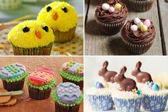 Cupcake de Pasqua (conills, ous i pollets) - totnens Cupcakes, Washi Tape, Desserts, Food, Easter, Tailgate Desserts, Cupcake Cakes, Deserts, Essen
