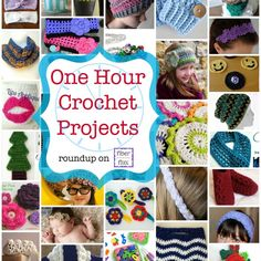 37 One Hour crochet patterns