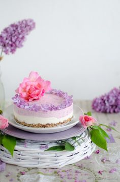 Cheesecake vegan vanilla and raspberry