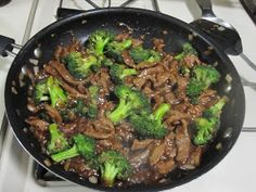 Beef and broccoli recipe-finally a  recipe that looks and seems easy enough for me to make now I just need a wok