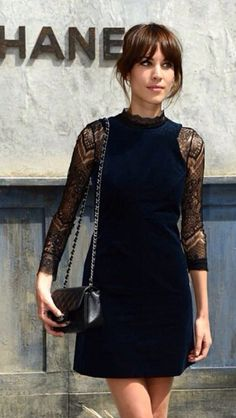 Alexa Chung: hair inspiration and black lace = best combination. Inspirational. #TopshopPromQueen
