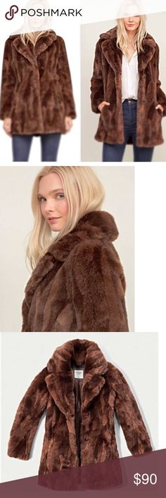 A&F faux fur coat,  NWOT This on trend faux fur coat is fabulous! It is very warm for the upcoming winter season. It has never been worn & in brand new condition. Abercrombie & Fitch Jackets & Coats