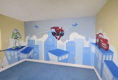 Spiderman mural - I like the light background