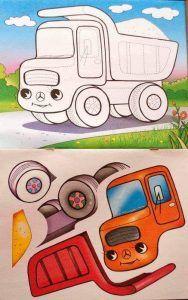 véhicules de coupe et le collage (4)