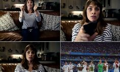 A dramatic video has revealed how domestic violence rises by more than a third when England is knocked out of the World Cup.