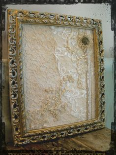 Vintage, Shabby Chic Frame, Jewelery Stand, Pin Board (Available on Folksy.com, click if you're interested)
