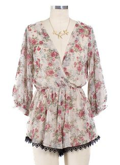 Apparel ~ Gwyneth Floral Romper – Gypsy Soul Collective