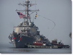 USS McFaul: Commissioned during a ceremony at the Garden City Terminal in Savannah, Ga.