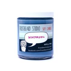 Winterfell -- Book Lovers' Scented Soy Candle -- Game of Thrones -- 8oz jar