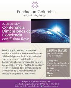 """Conferencia """"Dimensiones de conciencia"""" en Fundación Columbia"""