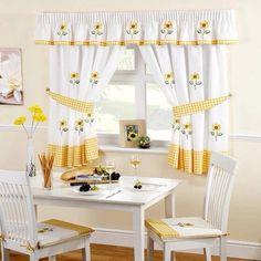 Just Contempo - Set di tendine da cucina con crestina per bacchetta ...
