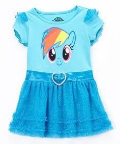 Another great find on #zulily! Blue Rainbow Dash Tutu Dress - Toddler & Girls by My Little Pony #zulilyfinds