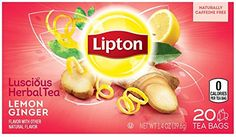 Lipton Herbal Tea  Lemon Ginger  20 ct ** Be sure to check out this awesome product. Note: It's an affiliate link to Amazon.