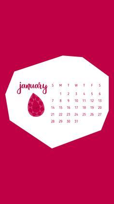 January 2018 desktop wallpaper