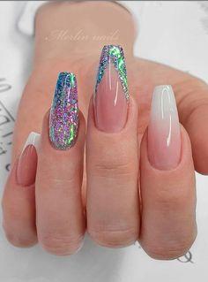 Beautiful Glittering Short Pink Nails Art Designs Idea For Summer And Spring - Lily Fashion Style Cute Acrylic Nail Designs, Best Acrylic Nails, Nail Art Designs, Short Pink Nails, Short Nails Art, Swag Nails, Fun Nails, Pretty Nails, Bling Nails