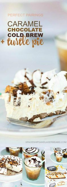 Caramel Chocolate Cold Brew + Turtle Pie via @spac…