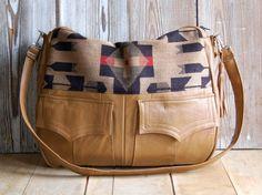 """If this bag could talk, it'd say """"I used to be a leather jacket"""". $295.00"""