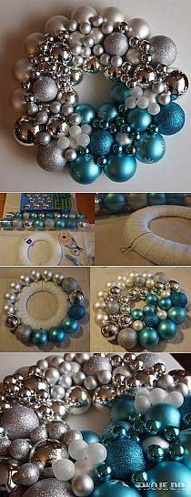 DIY - zrób to sam: Decoupage, biżuteria, rękodzieła, sztuka ludowa. Odkrywaj i kolekcjonuj unikalne wzory. Christmas Decorations, Holiday Decor, Ornament Wreath, Decoupage, Xmas, Crafts, Etsy, Winter Wreaths, Home Decor
