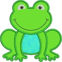 Frog perfect applique for a pillow!