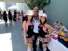 Tionne Williams & The Hollywood Candy Girls at the 2010 Emmy Style Lounge {Dessert table signs designed by Posh Pixels Design Studio LLC}