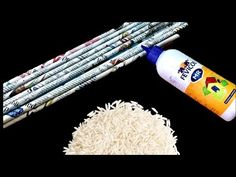 Amazing DIY using waste newspaper and broken rice   Best out of waste - YouTube