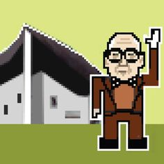 ARCHIPIX 2 is a continuation of the series of 8-bit portraits of starchitects against their famous buildings by Barcelona-based architect Federico Babina