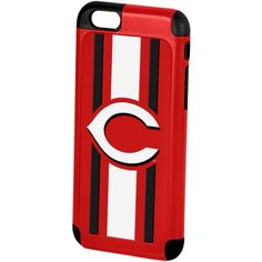 Forever Collectibles Cincinnati Reds iPhone 6 Case ($25) ❤ liked on Polyvore featuring accessories, tech accessories and red
