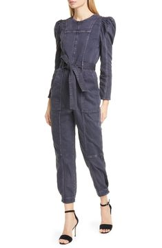 online shopping for Ulla Johnson Hesper Puff Sleeve Denim Jumpsuit from top store. See new offer for Ulla Johnson Hesper Puff Sleeve Denim Jumpsuit Control Top Leggings, Denim Jumpsuit, Ladies Jumpsuit, Jumpsuit Style, Long Faux Fur Coat, Velour Tops, Long Sleeve Sweater Dress, High Waisted Bikini Bottoms, Ulla Johnson
